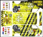 Yellow Biohazard Response themed vinyl SKIN Kit & Stickers To Fit Tamiya Lunchbox R/C Monster Truck